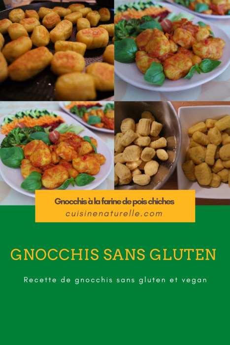Recette de gnocchis sans gluten vegan à la farine de pois chiches