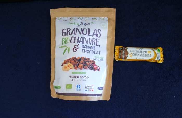 Hello Joya granola au chanvre et barre énergétiques au chanvre sans gluten et vegan