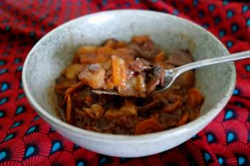 Bol Bourguignon sans viande protéines de soja et carottes