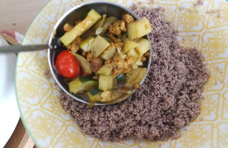Louche de légumes avec couscous de sarrasin sans gluten