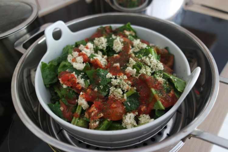 Légumes à cuire dans la soupière du Vitaliseur