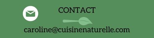 Contact e-mail caroline cuisine naturelle