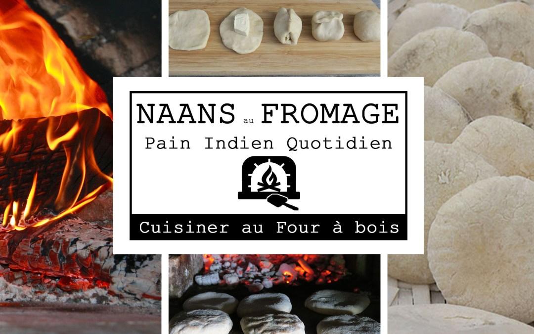 Les Naans indien au fromage au four à bois