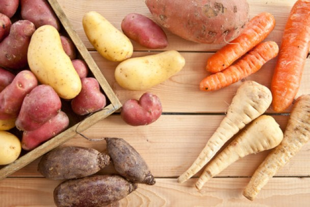 36303834 - variety of winter vegetables on rustic wooden background