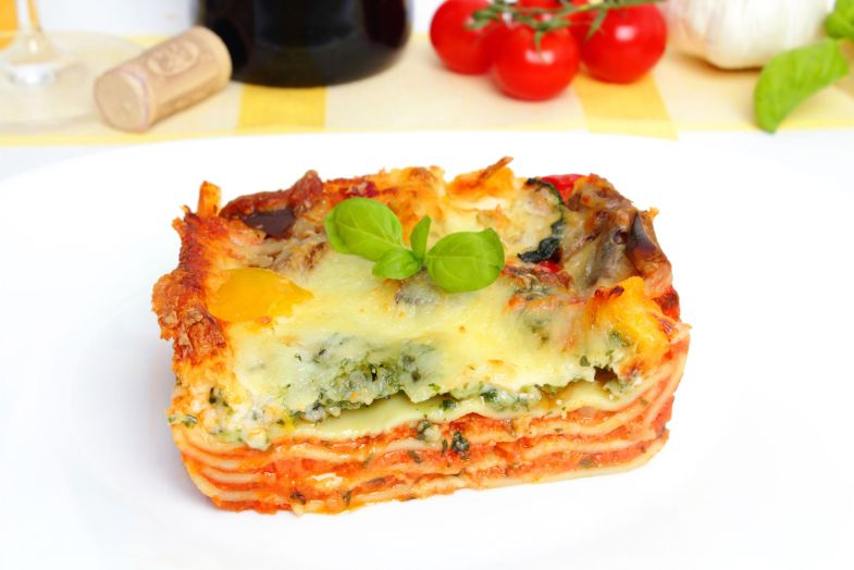 19862888 - fresh vegetarian lasagna with vegetables