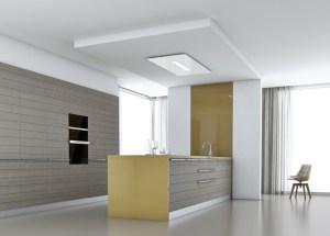 Où Placer La Hotte Cuisines Et Bains - Hotte de cuisine plafond