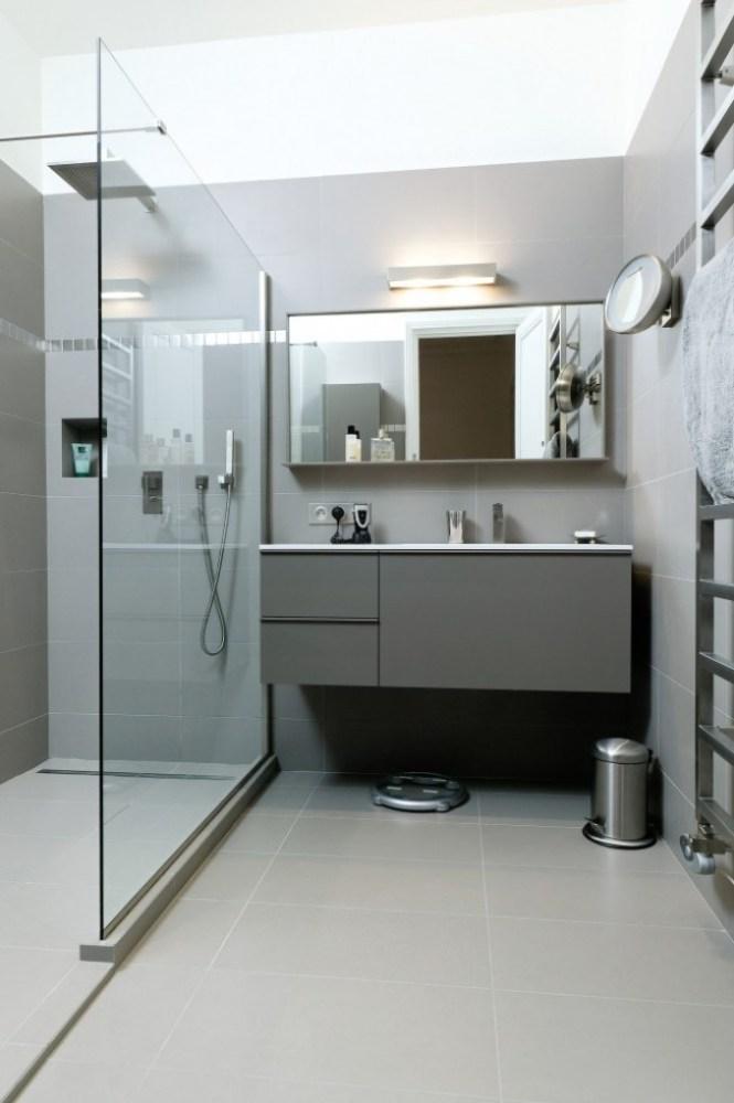 Douche et miroir