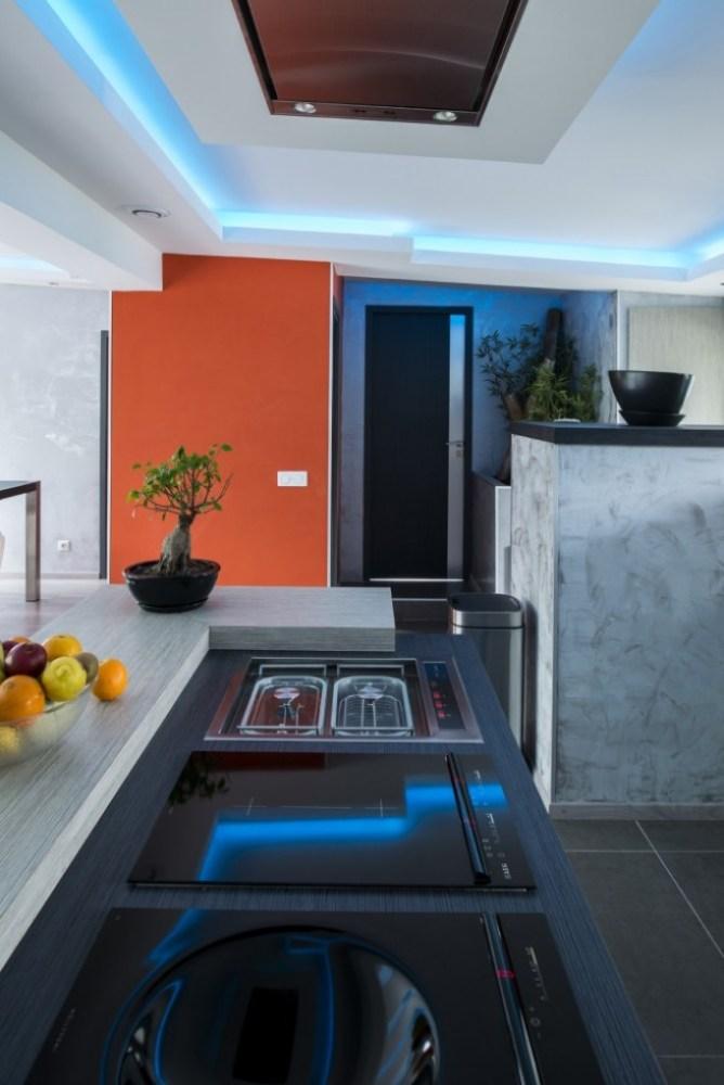 cuisine avec néon