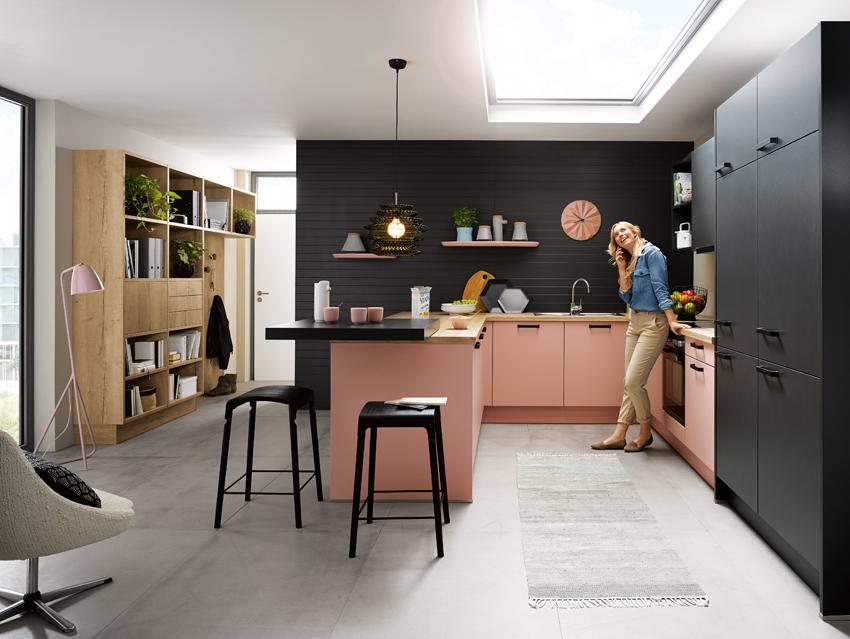 cuisine rose et noir