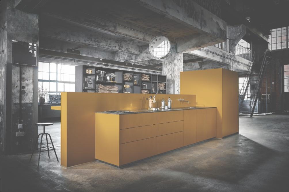 Next125 LivingKitchen cuisine jaune bloc