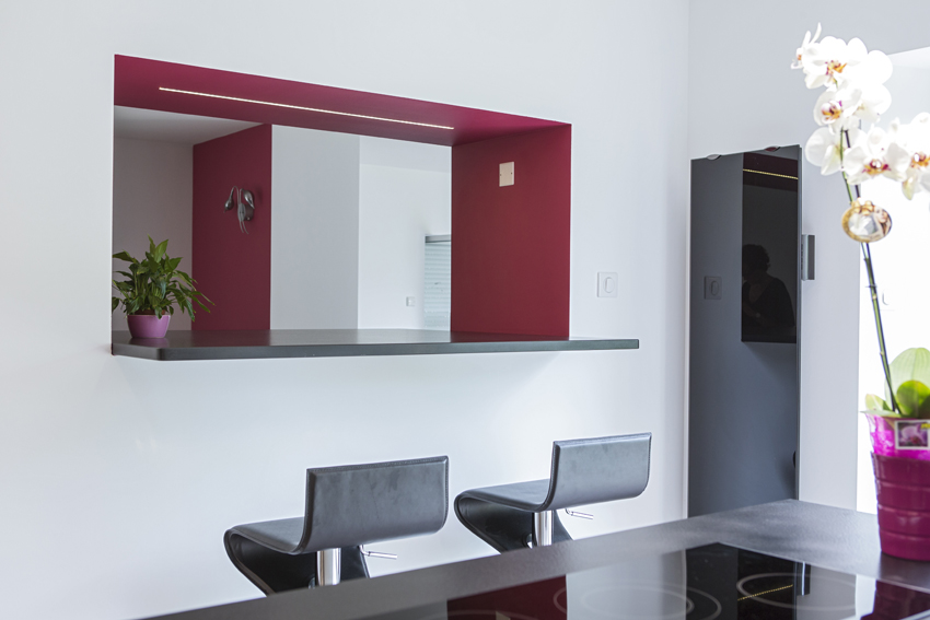 cuisine design rouge