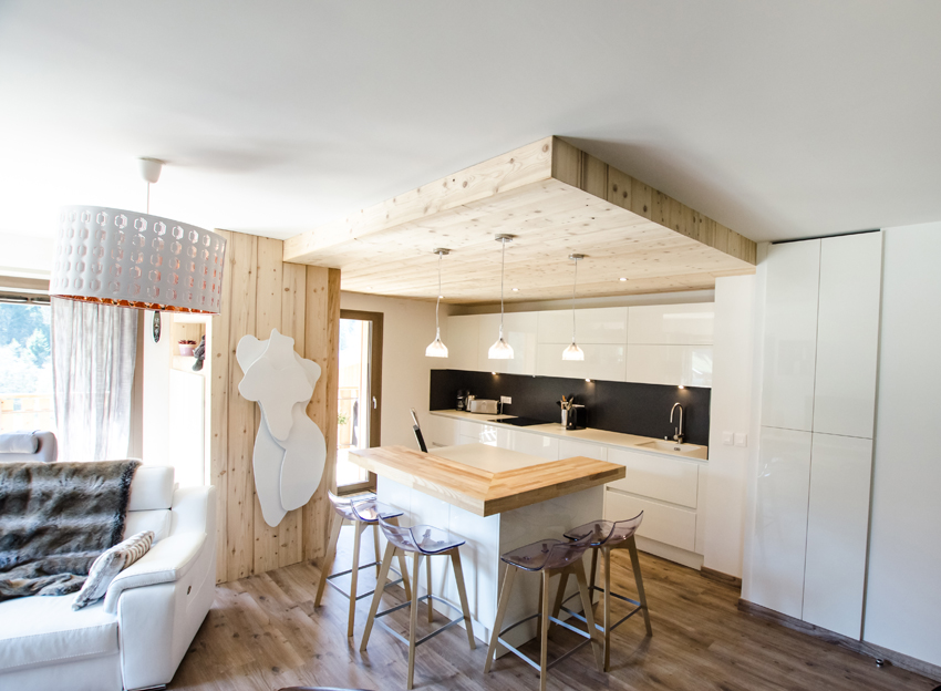cuisine chalet contemporaine