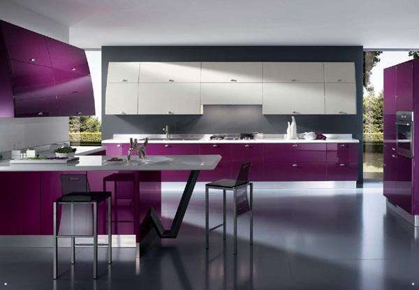 cuisine colorée violet