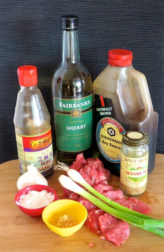 Peking Sesame Beef Ingredients