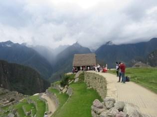 Machu Picchu–Guard house and mountain view