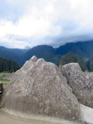 Machu Picchu–rock and real mountains