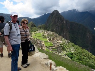 Machu Picchu–we made it to the first high point!