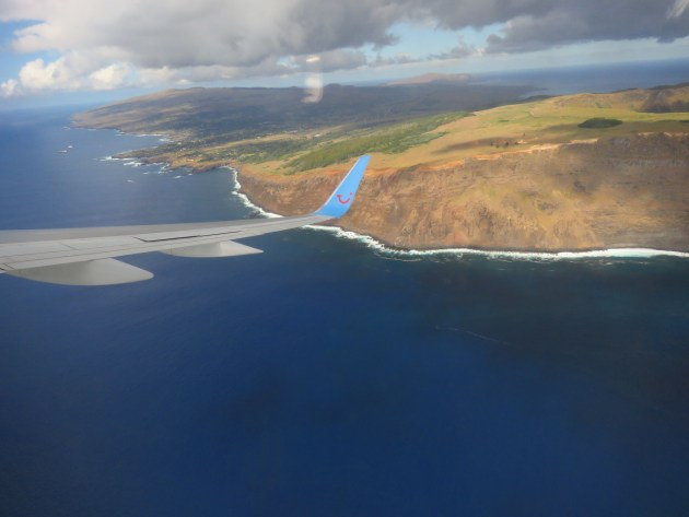 Easter Island from the plane