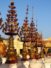 Bagan, Myanmar–Shwezigon Pagoda, Typical Floral Decorations