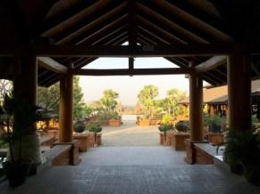 Bagan, Myanmar–Aureum Palace, Pool View, Daytime