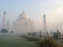 Taj Mahal Through The Mist
