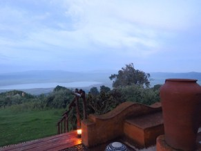 Tanzania–Ngorongoro Crater–View Form Lodge Deck