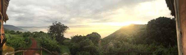 Tanzania–Ngorongoro Crater Sunrise Panorama
