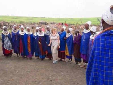 Tanzania Ngorongoro Crater Marlene Dances With Masai Women
