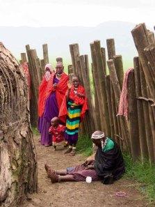 Tanzania Ngorongoro Crater Masai Mother And Children