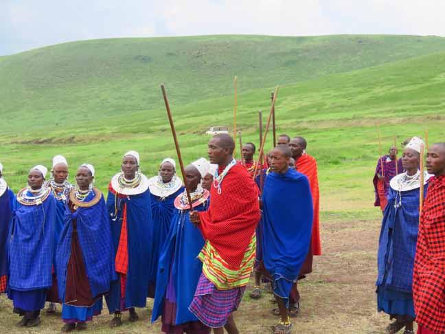 Tanzania Ngorongoro Crater Masai