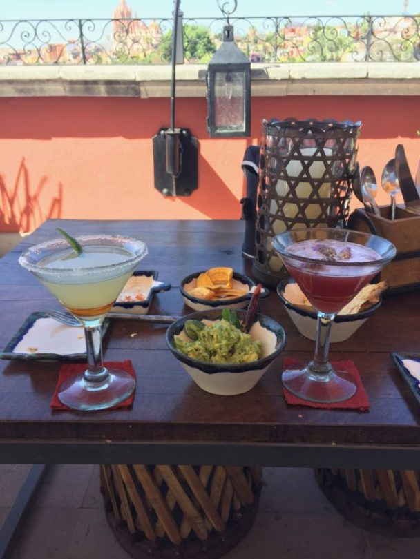 Cocktails with a view, Rosewood Hotel, San Miguel de Allende