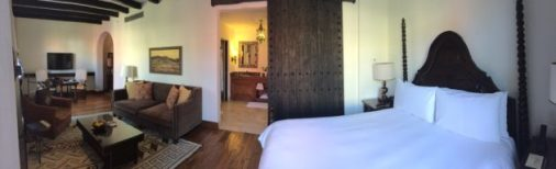 Panorama of our room at Rosewood Hotel, San Miguel de Allende