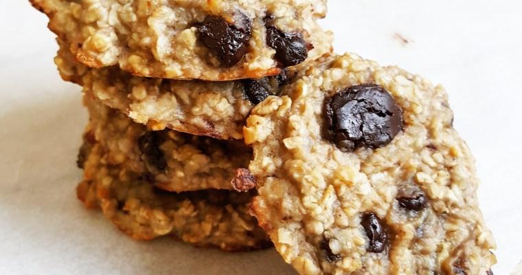 Cookies à la banane & flocons d'avoine
