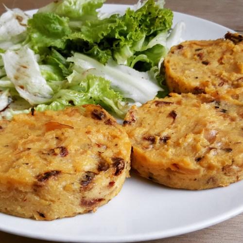 Galettes de polenta aux oignons tomates s ch es ricotta for Cuisine ta ligne