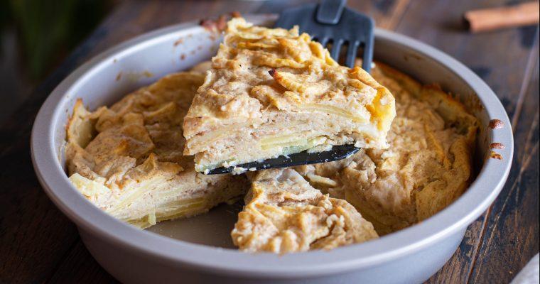 Gâteau invisible aux pommes et poires