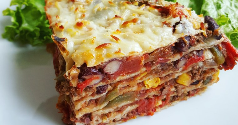 Lasagne mexicaine aux tortillas