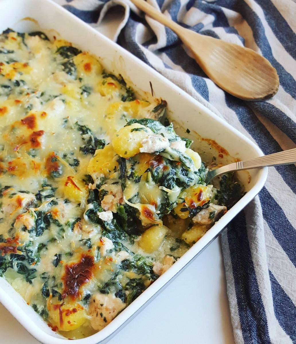 Gratin de gnocchis aux pinards et saumon cuisine ta ligne for Cuisine ta ligne