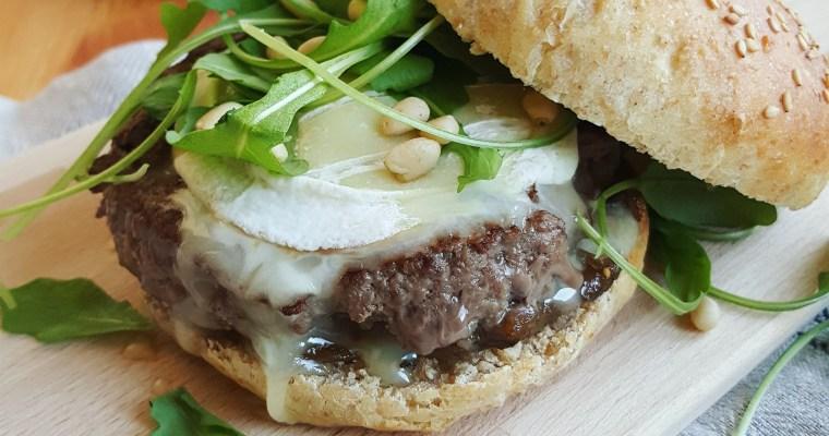 Hamburger au rocamadour et chutney de figues