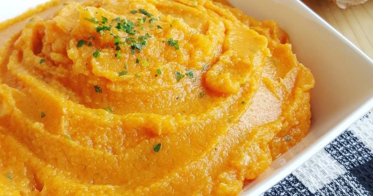 Purée de panais, carotte et patate douce