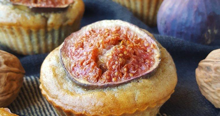 Muffins aux figues fraîches, noix et miel