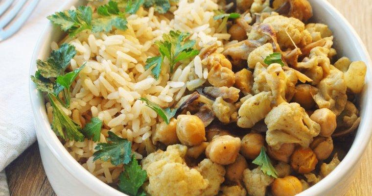 Curry de chou-fleur aux pois chiches