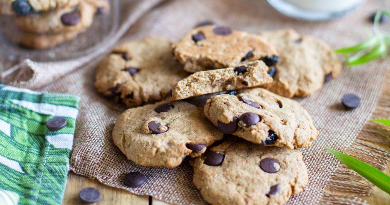 Cookies à la banane, coco, cranberrys et pépites de chocolat