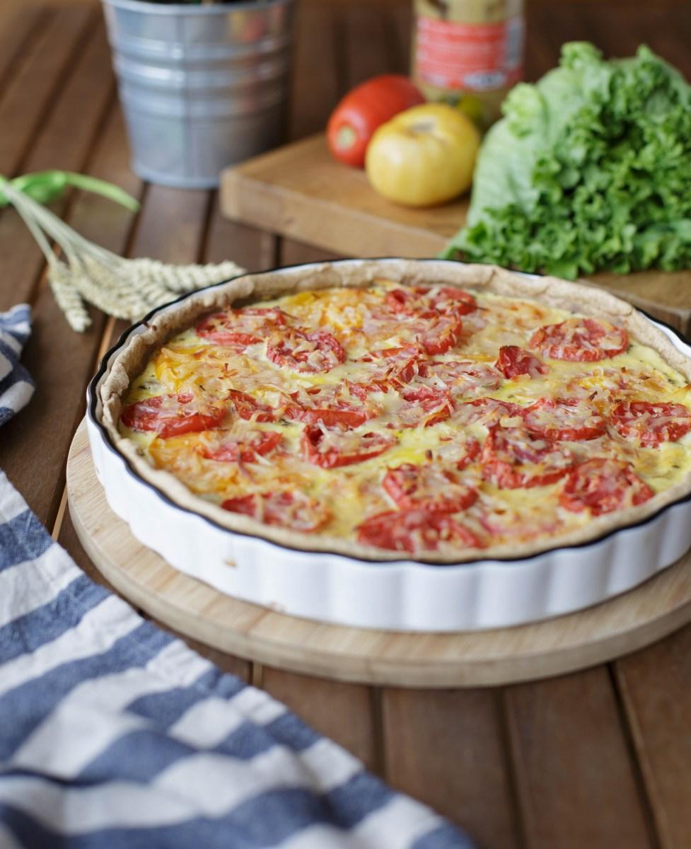 quiche la tomate thon moutarde cuisine ta ligne