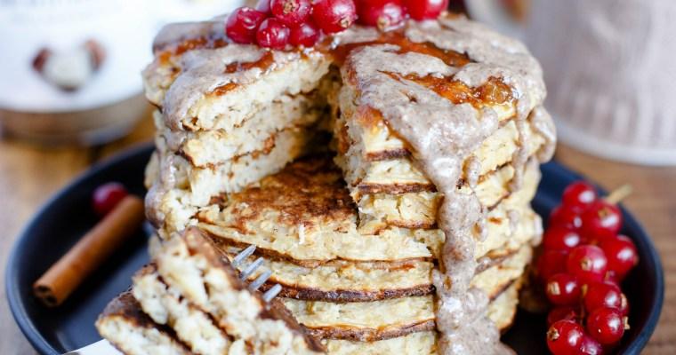 Pancakes à la pomme & flocons d'avoine