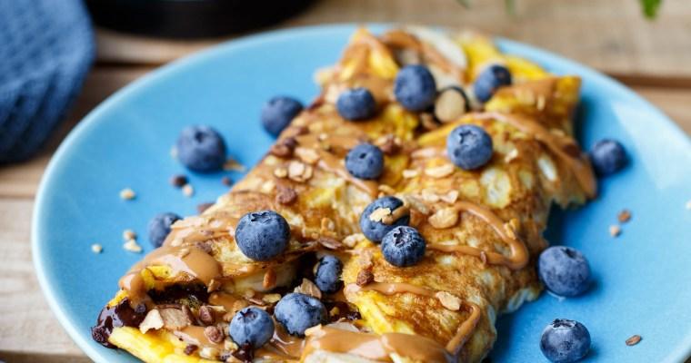 Omelette sucrée à la banane et au chocolat