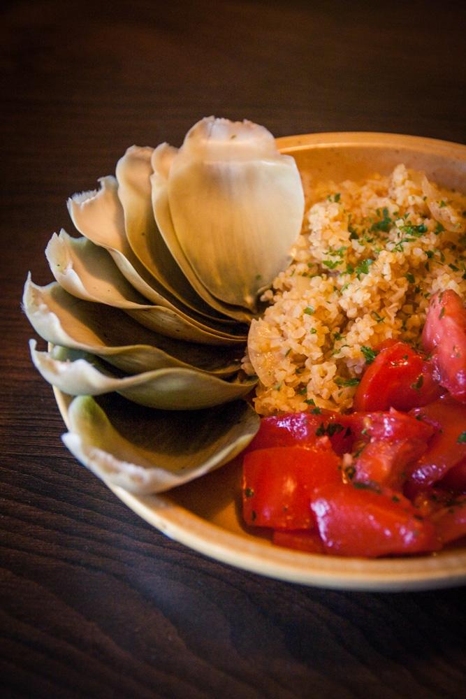 Tomates en salade boulgour et artichaut v gane - Cuisine thai pour debutants ...