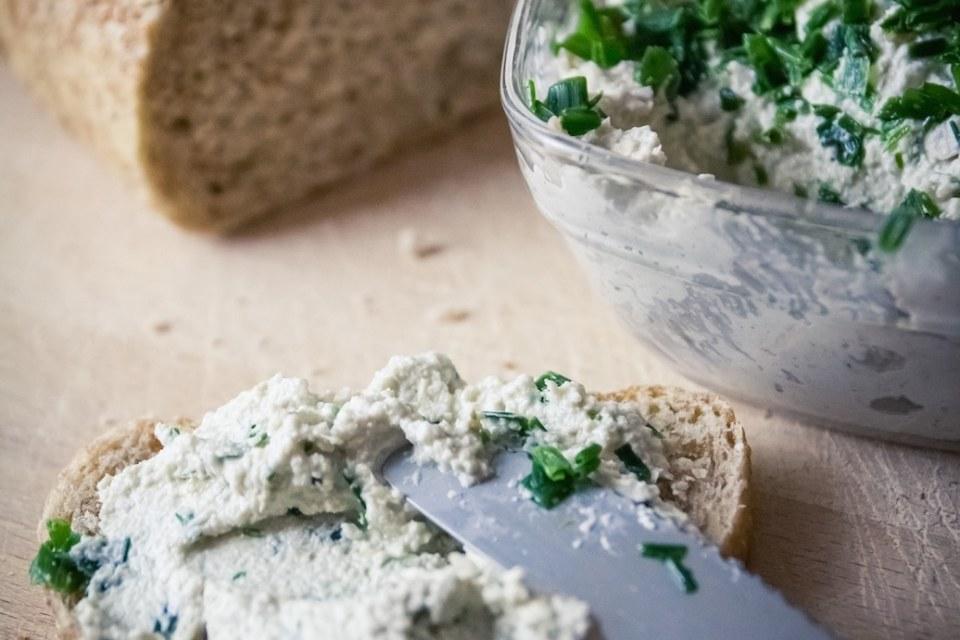 Fromage végane ail ciboulette cuisine végane pour débutant recette vegan facile