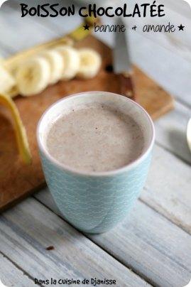 Boisson chocolatée banane et amande VEGAN