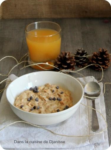 Porridge à la banane sans cuisson