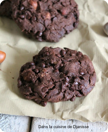 cookies cacao noisettes
